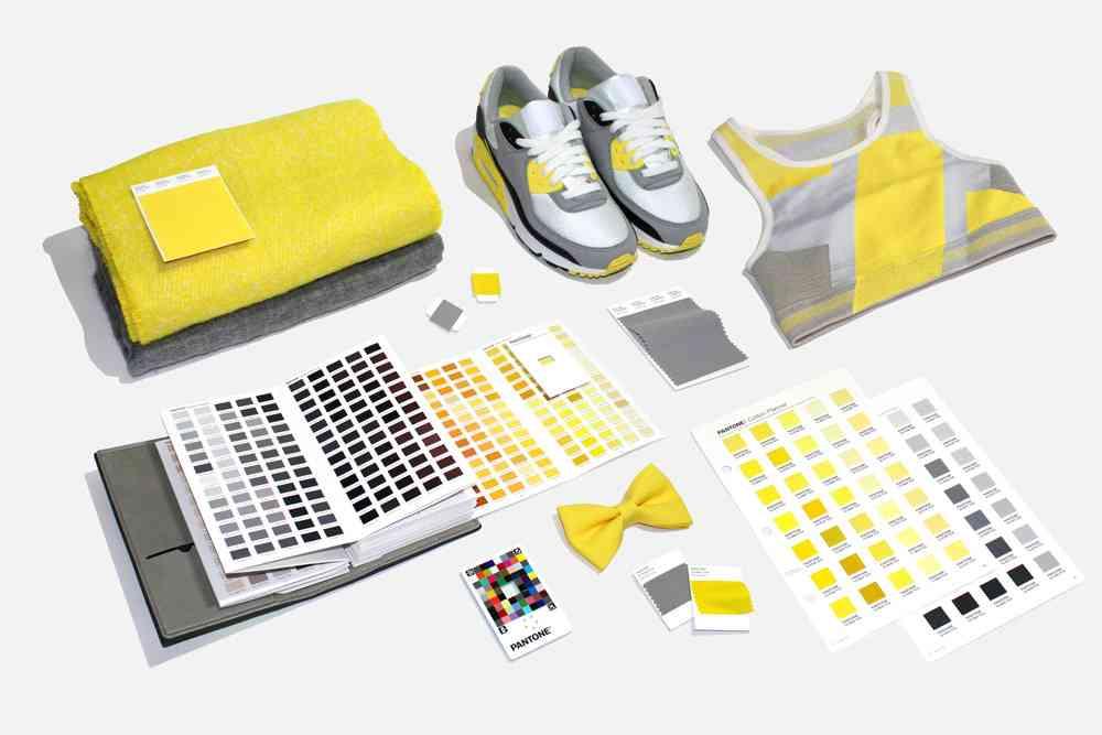 2021年度代表色:極致灰和熒光黃服裝服飾行業應用_高瑞品牌