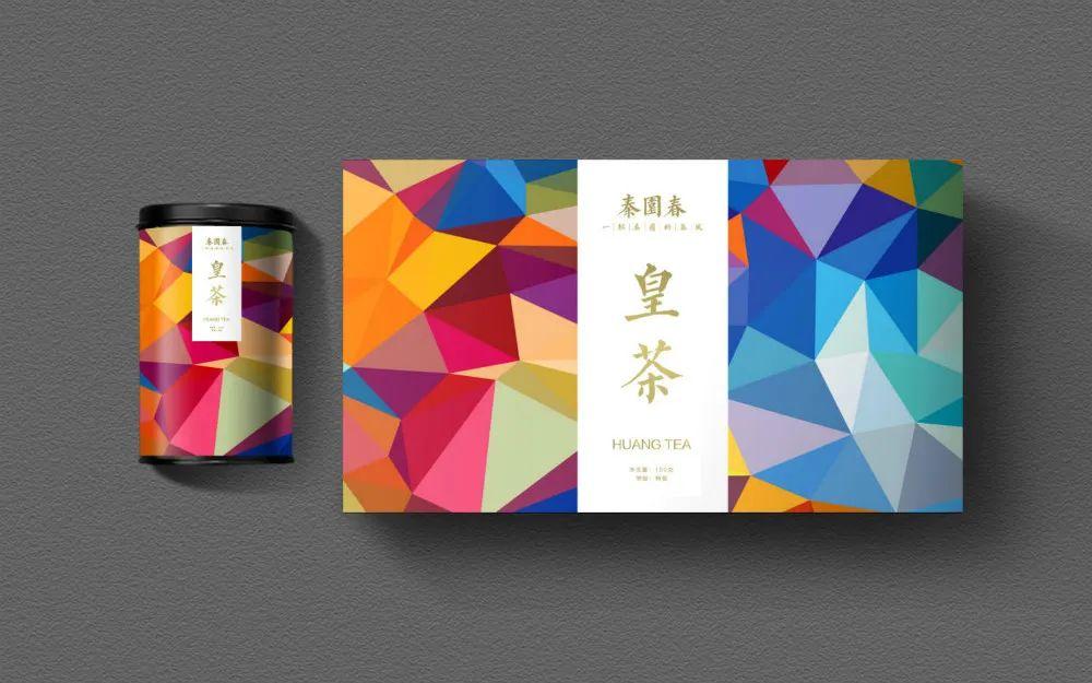 秦園春茶葉包裝設計幾何風格_高瑞品牌原創設計